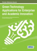 Cover image for Green Technology Applications for Enterprise and Academic Innovation
