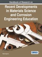 Cover image for Handbook of Research on Recent Developments in Materials Science and Corrosion Engineering Education