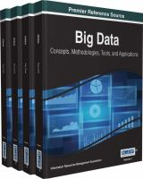 Cover image for Big data : Concepts, Methodologies, Tools, and Applications