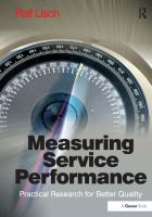 Cover image for Measuring service performance : practical research for better quality