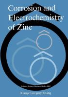 Cover image for Corrosion and electrochemistry of zinc