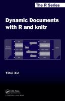 Cover image for Dynamic documents with R and knitr