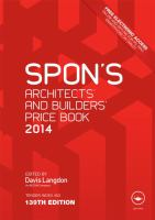 Cover image for Spon's architects' and builders' price book 2014