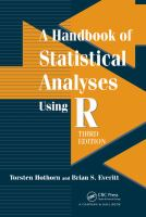 Cover image for A handbook of statistical analyses using R