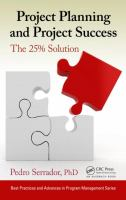 Cover image for Project planning and project success : the 25% solution