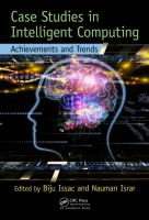 Cover image for Case studies in intelligent computing : achievements and trends