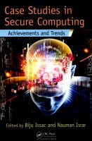 Cover image for Case studies in secure computing : achievements and trends