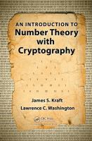 Cover image for An introduction to number theory with cryptography