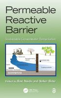 Cover image for Permeable reactive barrier : sustainable groundwater remediation