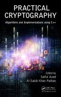 Cover image for Practical cryptography: algorithms and implementations using C++