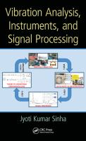 Cover image for Vibration analysis, instruments, and signal processing