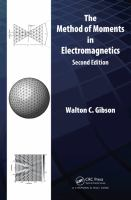 Cover image for The Method of moments in electromagnetics