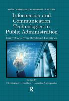 Cover image for Information and communication technologies in public administration : innovations from developed countries