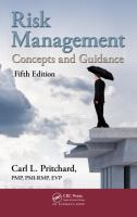 Cover image for Risk management : concepts and guidance