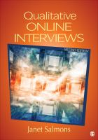 Cover image for Qualitative online interviews : strategies, design, and skills
