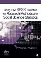 Cover image for Using IBM SPSS statistics for research methods and social science statistics