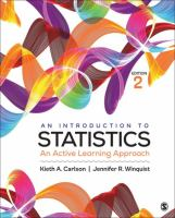 Cover image for An introduction to statistics : an active learning approach