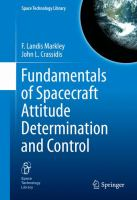 Cover image for Fundamentals of Spacecraft Attitude Determination and Control