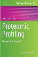 Cover image for Proteomic Profiling : Methods and Protocols