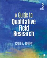 Cover image for A Guide to Qualitative Field Research