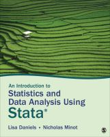 Cover image for An introduction to statistics and data analysis using Stata : from research design to final report