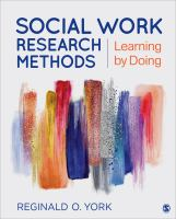 Cover image for Social Work Research Methods : Learning by Doing