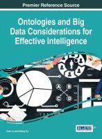 Cover image for Ontologies and Big Data Considerations for Effective Intelligence