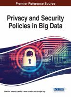 Cover image for Privacy and Security Policies in Big Data