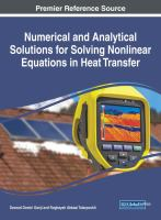 Cover image for Numerical and Analytical Solutions for Solving Nonlinear Equations in Heat Transfer