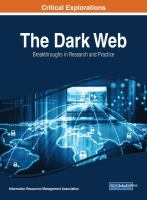 Cover image for The Dark Web : Breakthroughs in Research and Practice