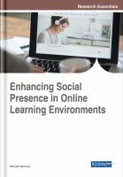 Cover image for Enhancing Social Presence in Online Learning Environments