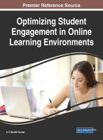 Cover image for Optimizing Student Engagement in Online Learning Environments