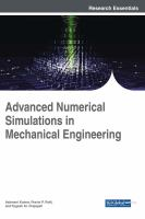 Cover image for Advanced Numerical Simulations in Mechanical Engineering