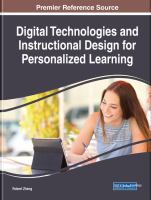 Cover image for Digital Technologies and Instructional Design for Personalized Learning