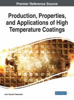 Cover image for Production, Properties, and Applications of High Temperature Coatings