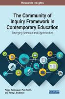 Cover image for The Community of Inquiry Framework in Contemporary Education : Emerging Research and Opportunities