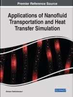 Cover image for Applications of Nanofluid Transportation and Heat Transfer Simulation