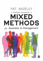 Cover image for A Practical Introduction to MIXED METHODS for Business & Management
