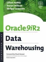 Cover image for Oracle 9iR2 data warehousing