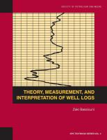 Cover image for Theory, measurement and interpretation of well logs