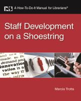 Cover image for Staff development on a shoestring : a how-to-do-it manual for librarians