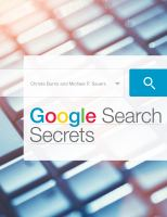 Cover image for Google search secrets