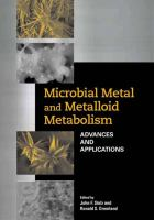 Cover image for Microbial metal and metalloid metabolism : advances and applications