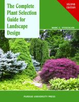 Cover image for The complete plant selection guide for landscape design