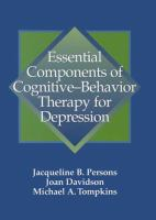 Cover image for Essential components of cognitive-behavior therapy for depression