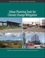 Cover image for Urban planning tools for climate change mitigation