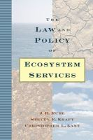Cover image for The law and policy of ecosystem services