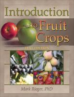 Cover image for Introduction to fruit crops