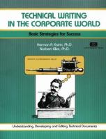 Cover image for Technical writing in the corporate world