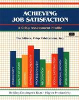 Cover image for Achieving job satisfaction : a Crisp assessment profile